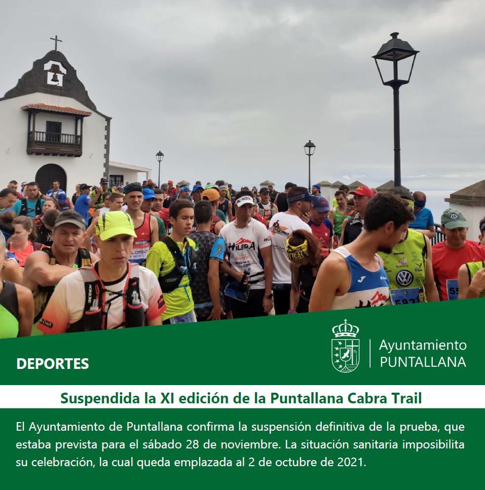 Suspendida la XI edición de la  Puntallana Cabra Trail